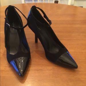 Tahari Belinda 1 Suede & Patent Heel